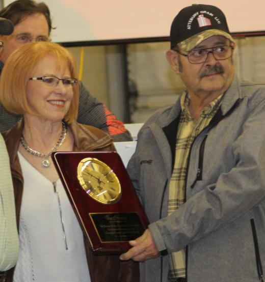 Groom Mayor Joe Homer accepts Carson County Junior Livestock Association's