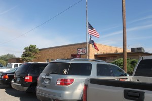 The flags fly at half-mast on Sept. 11 this year. The school also observed a moment of silence. In this story one of our teachers looks back at 9-11-01 for Groom School.