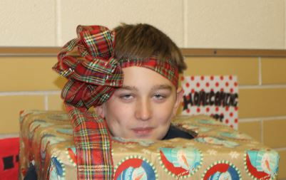 All wrapped up and no place to go seemed to be how Caden Lambert felt for the day.