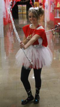 Chrismas Cupid Kaitlyn Ruthardt makes her mission to keep the Homecoming hallways sweet.