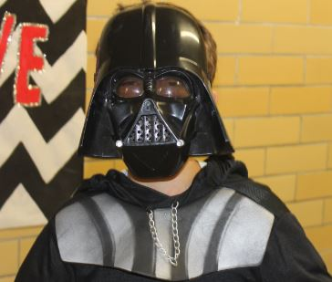 The Dark Bored of the Sith Jessie McClenan visits GHS. So dress up in your costumes for Halloween just like Jessie wore during homecoming week.