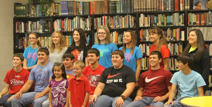 Back row- Charity Perry, Cari Weinheimer, Caroline Britten, Shaunna Corley, Renee Payne, Christy Painter, Emily Trevino. Middle row- Nate Roskens, Nick Bohr, Brayton Hendricks, Hayden Ritter, Jacob Clifton,Trenton Fields, Caleb Eggemeyer. Front row- Jocelyn Rocha, and Cooper Treadwell