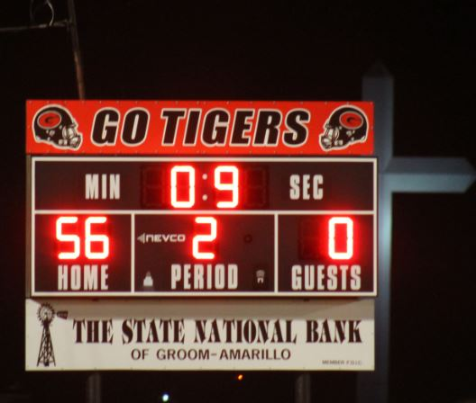 The  last game of the year in Tiger Stadium was a success. Groom beat  McLean  56 to 0.