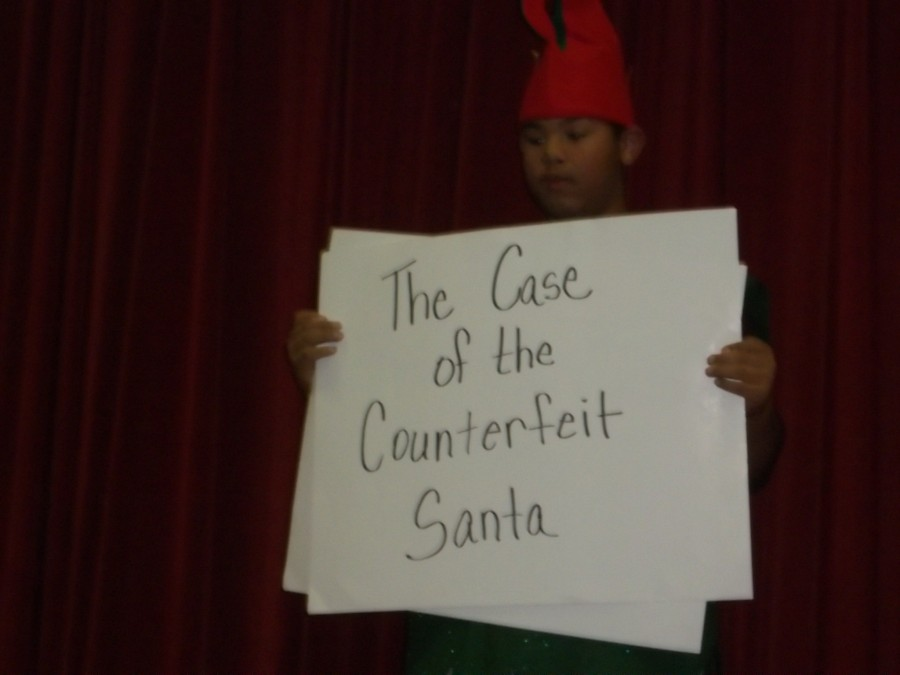 Flu Cases don't stop 'The Case of the Counterfeit Santa'