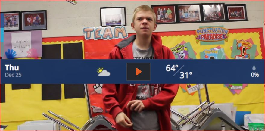 Junior Justin Cornell wraps up the Christmas weather for Groom fans.