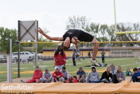 Brice White qualified for the regional track meet Thursday evening just before bad weather broke out across the Panhandle. White jumped 5'8