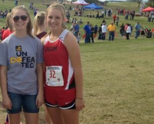 Freshman K'Leigh Keesee traveled with her friend freshman Madison Friemel to the regional cross country meet in Lubbock. Only Friemel qualified to compete. Students now are debating if the policy of allowing non-qualifiers to travel with friends should be kept or not.