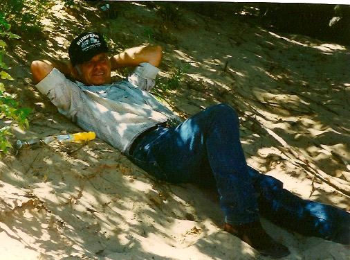Senior Andrew Ingle's Uncle Bob Brown takes a break to relax during a family reunion in Oklahoma. Ingle wrote about his