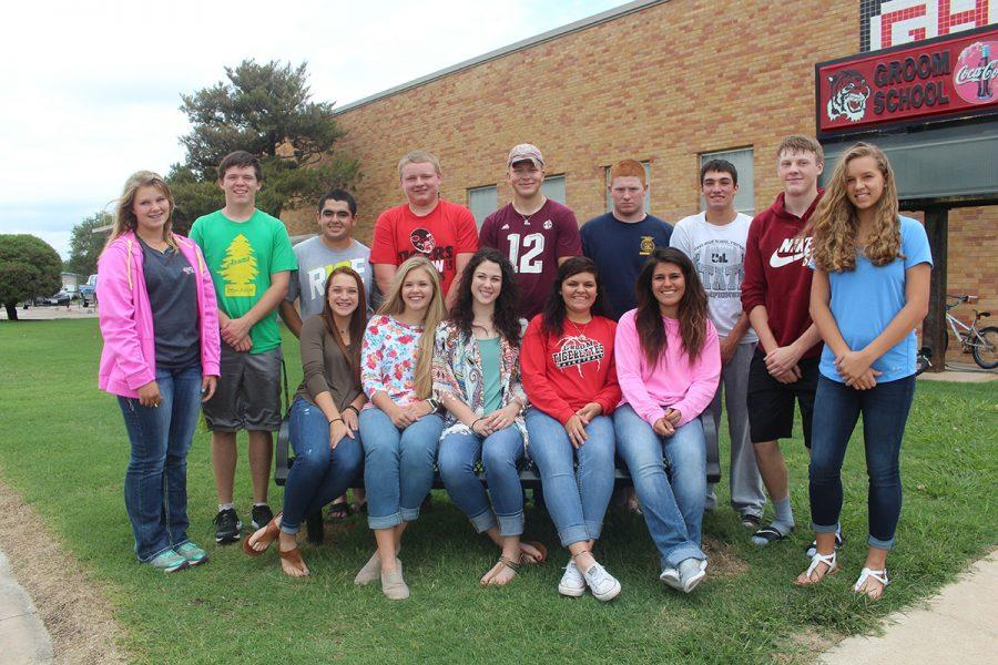 The 2016-17 student council released homecoming court results on Thurs. Aug. 25. Today the court met for the traditional group picture in front of the school.