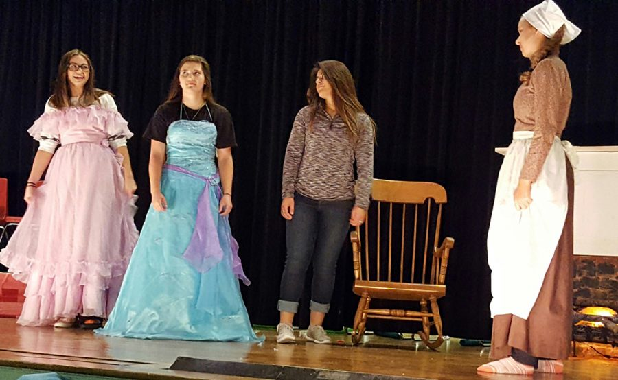 The High School Theatre class practices for their fall production