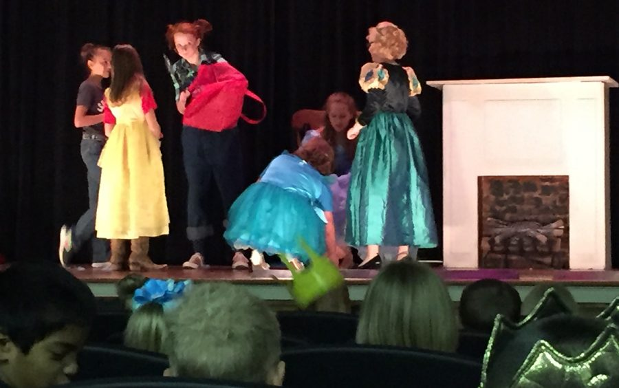 This morning, the elementary was able to interact with the theater students during their performance of