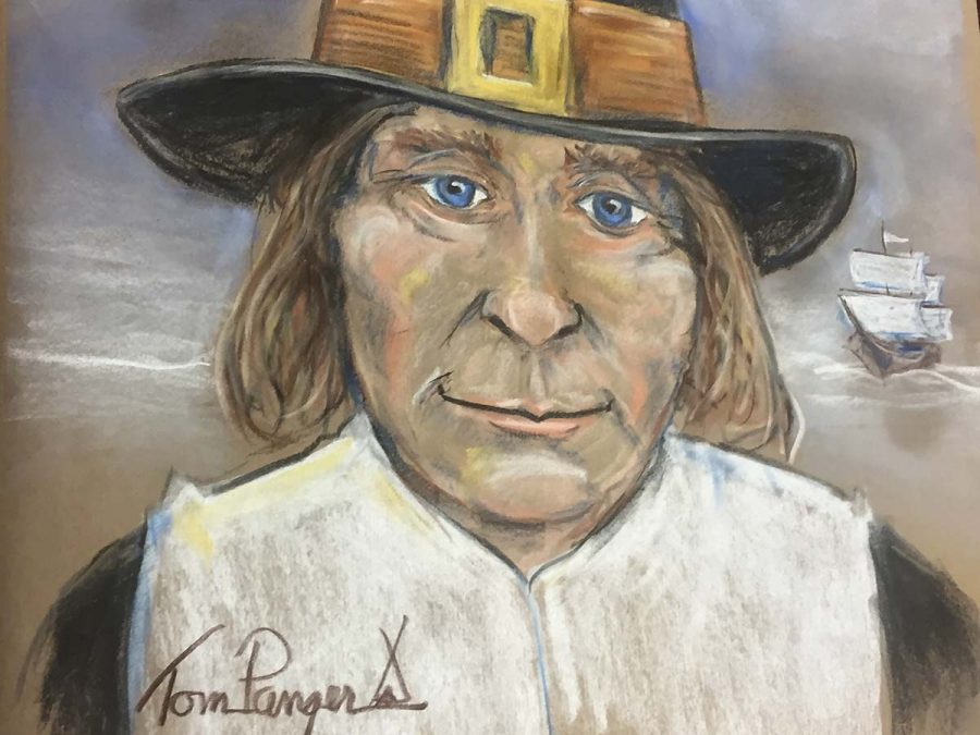 The Elementary students had a visitor from the WOWW (Window on a Wider World) program. Tom Painter painted two pictures with chalk in front of the students. It was fun and interesting to watch a real artist, Melanie Britten said.