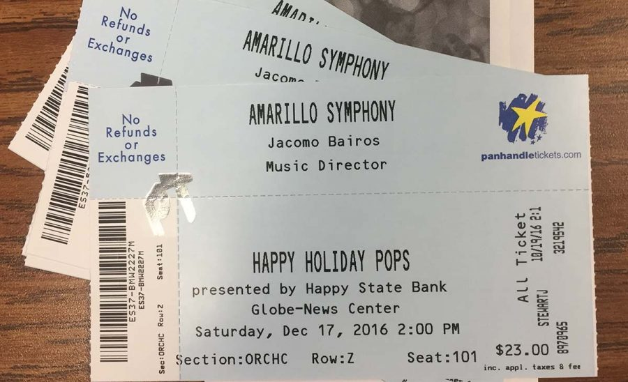 Terri Rose, Christy Painter and Justina Coronado won the tickets to the Amarillo Symphonys Happy Holiday Pops performance, which will be this Saturday, Dec. 16, at 2 p.m. at the Globe-News Center for the Performing Arts. Thank you to an anonymous donor for allowing Groom Tiger Times the privilege to spread this holiday cheer.  A fun way to celebrate Christmas, Christy Painter said. I would love them. The tickets were given away in a contest that required people to like, comment and share a post on Groom Tiger Times Facebook page. The newspaper has a presence on many social media sites, including Facebook, Twitter and Instagram. Just search @GroomTigerTimes for your chance to win future giveaways and to stay informed about all of the happenings at Groom Independent School District.