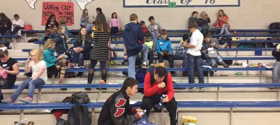Second through eighth-grade UIL participants wait for their events to start. Elementary and Junior High students are attending district UIL at White Deer today, Dec. 7.