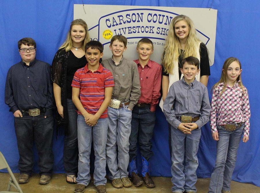 Nine Groom students participated in the Carson County Stock Show. According to FFA sponsor Kami Whatley, students represented well and earned several different awards.