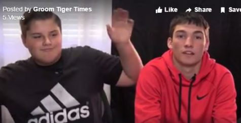 Sophomore Adrian Hendricks and senior Carson Ritter anchor the Feb. 24 episode of Tigers Today.