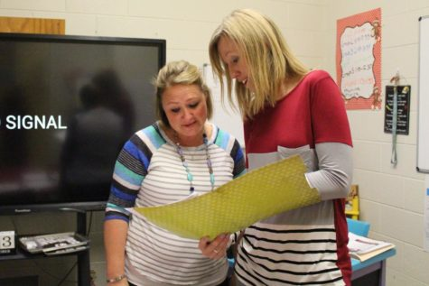 Teachers Aimee Fields and Mendy Boyd work together to meet both student and parent needs. On Thursday, Boyd will be leading a class to help parents understand the elements of the Scottish Rite dyslexia program. Earlier this semester, Fields led a class to help parents help their
