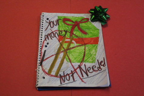 "Junior columnist and artist Jaymon Row served as the primary editor for this collection of Christmas writings. Junior high students wrote on ""Gifts Money Can"