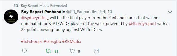 sydney statewide player tweet snip