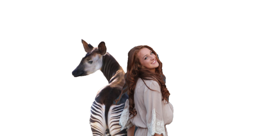 Courtesy+of+photo+shop%2C+junior+Sydney+Ritter+poses+with+an+okapi%2C+her+favorite+animal.+Ritter+decided+to+write+a+column+about+this+unusual+creature.+%22You+may+not+want+to+change+your+favorite+animal+to+this+unique+one%2C+but+I+hope+I%27ve+at+least+broadened+your+horizons%2C%22+Ritter+said.+