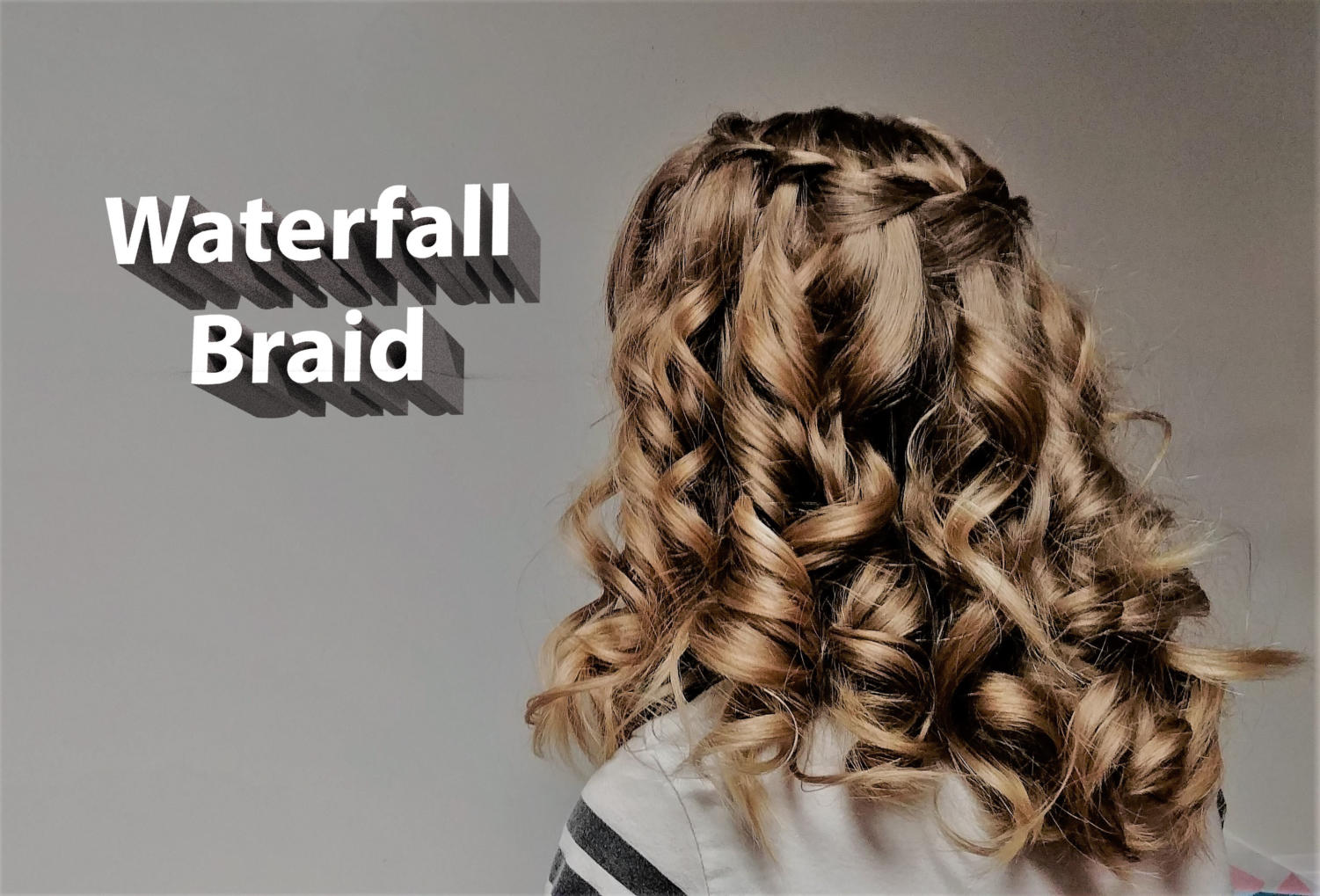 Eight-grader Saffron Eugea shows off her waterfall braid as a representation of the article she wrote about how to do this type of specialty braid.