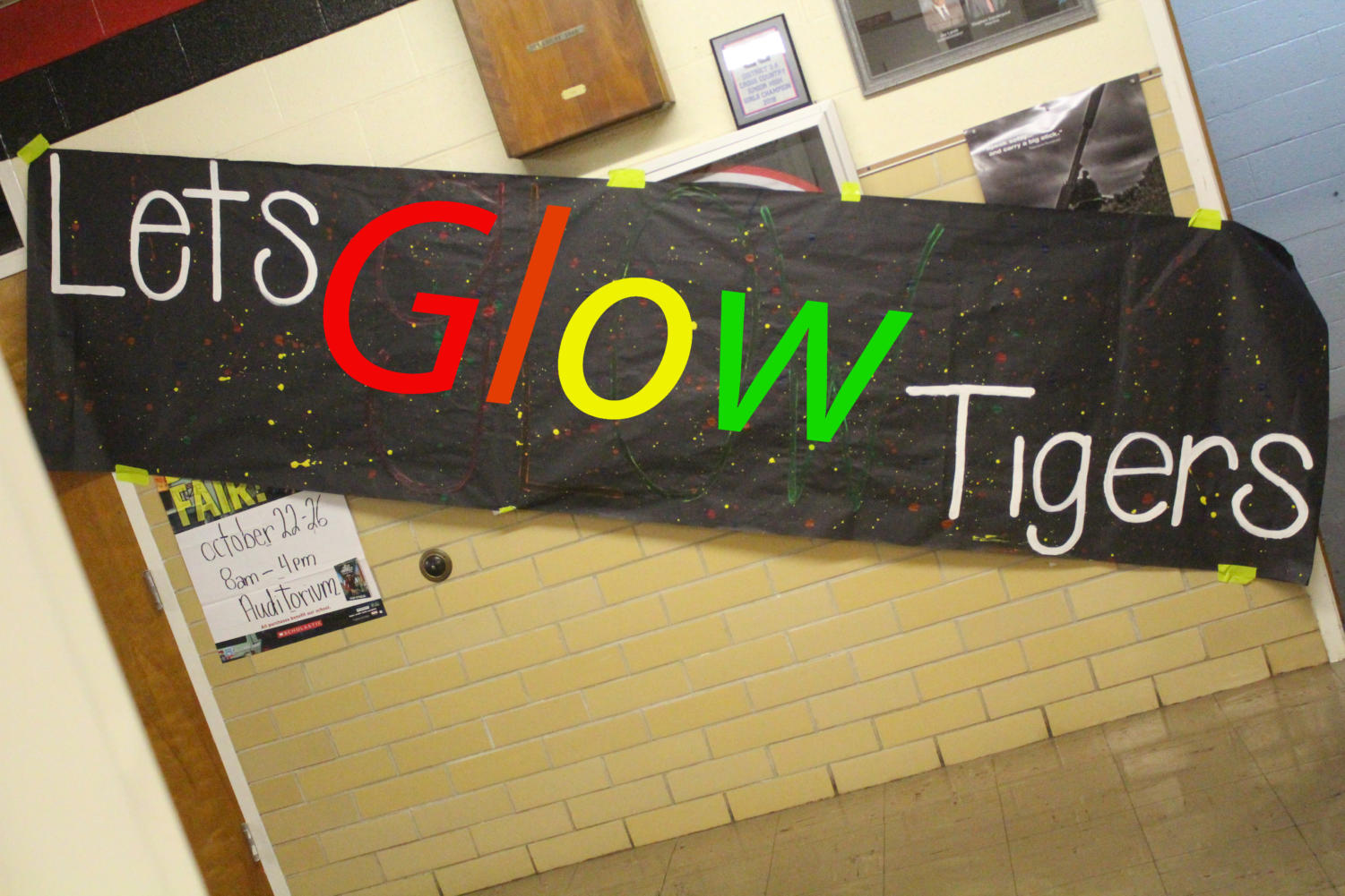 Shown above is a painted sign done by the cheerleaders to show the theme of Friday's pep rally against the Hedley Owls. Glow sticks will be sold on Friday for $1.