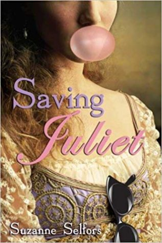 "Saving Juliet by Suzanne Selfors is a book that changes the plot of  Shakespeare play Romeo and Juliet where they both die tragic deaths, but instead they never meet and Benvolio's the one falling in love with a Capulet; all because of a Shakespearean Charm that brought Mimi to Verona. "" The changes made to this lovely but tragic play made me want to rewrite one of Shakespeare"