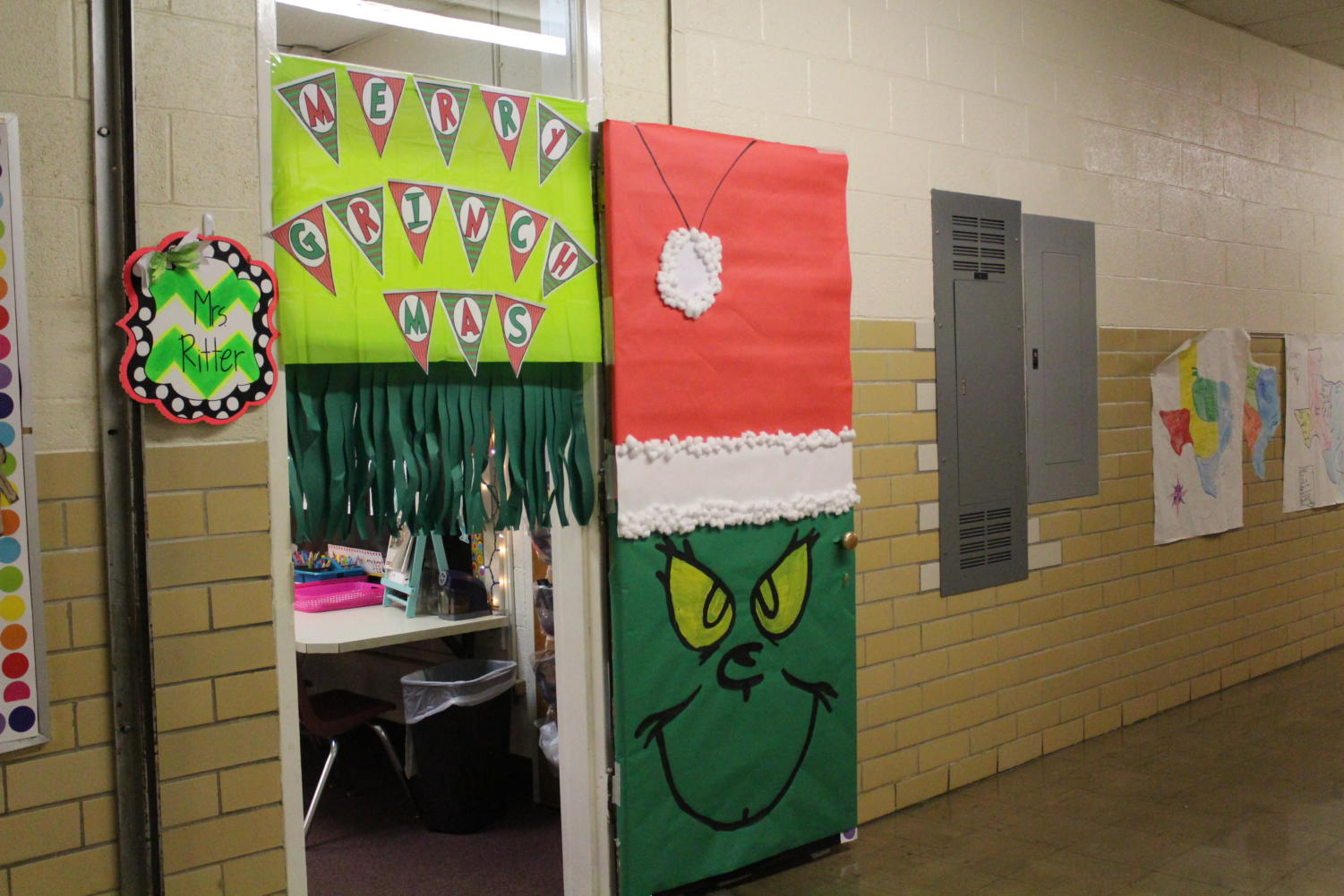 Mrs. Ritter's Pre-K Door, decorated for