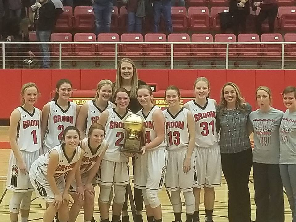 The Tigerettes were awarded their second Bi-District golden ball last night at West Texas High School.