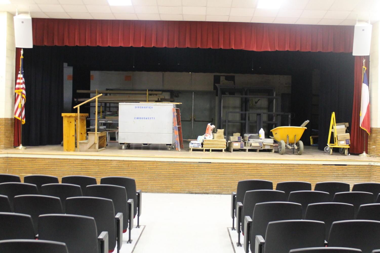 The Groom school auditorium is under construction. Principal Stephen Vanderpool said,