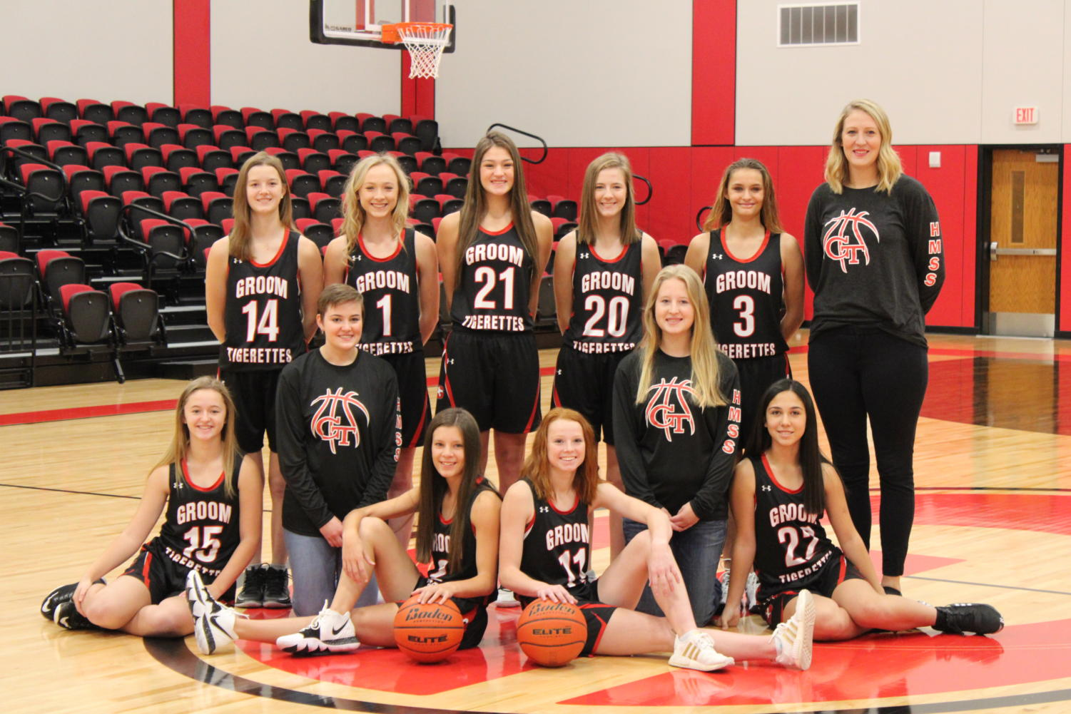 The Groom Tigerettes pose for picture day. The Tigerettes are getting ready to take this season on strong.