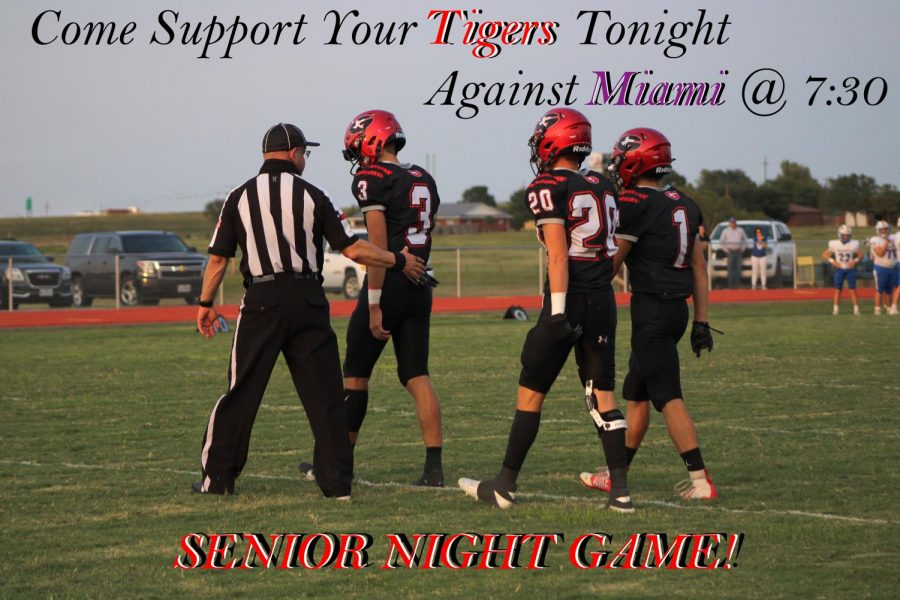 The Tigers take on the Warriors tonight at 7:30. Following the game the seniors will be announced and walk the field. (Photo by Kirsten Rice)