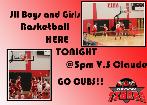 Junior High Basketball vs. Claude Tonight at 5pm