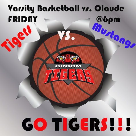 Varsity Boys Basketball VS. Claude on Friday @6pm