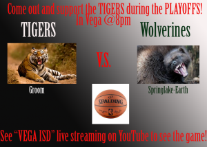 TIGERS vs. SpringLake-Earth TONIGHT in Vega @8pm